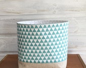 Fabric Storage Basket Triangles in Teal