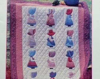 Patricia Cox SUSIE'S SISTERS 12 Sunbonnet Sue Designs - Quilt Applique Patterns By House of White Birches