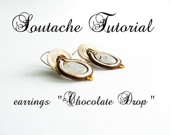 Soutache tutorial -  beading tutorial - beading tutorials and patterns - jewelry tutorial - soutache diy -  last minute gift
