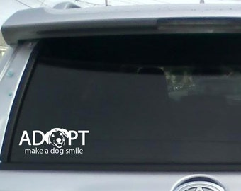 Adopt a Dog Car Decal