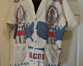 Vintage Native American Handmade Corn Meal Sack Blouse Jacket Clark Milling Co Hillsboro Texas TX Size XL or 1X
