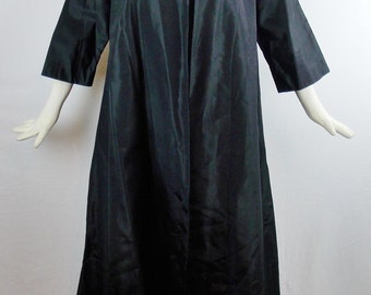 Vintage SUPERMODEL LONG COAT Evening Opera Coat Tafetta By Jay Herbert Size Med