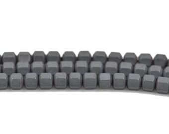 3mm Matte Gunmetal HEMATITE HEXAGON Beads, Titanium coated gemstone beads, full strand, 150 beads, ghe0125