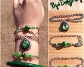Green Slider/Stacking Bracelet set-Fashion Jewelry-Mother, sister, daughter gift