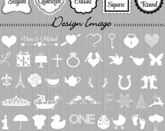 Personalized Favor Tags- Choose Color- FavorTags in your stlyle and design