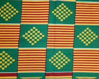Full Sale Kente3 African Print Fabric (sold by the yard)