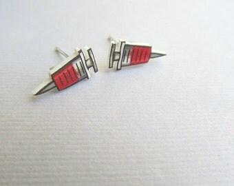 Nurse Stud Earrings SHOTS!