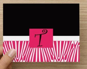 Pink and Black Zebra Print
