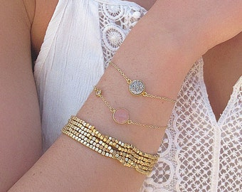 Silver Druzy Bracelet - Druzy Jewelry - Metallic Druzy - Bracelets