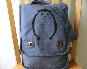 Hedgehog Canvas Messenger Bag Laptop Bag