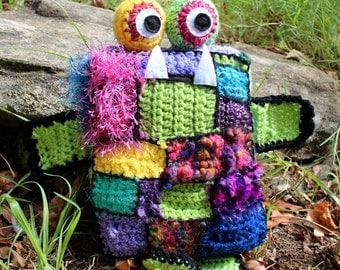 Kooki-Monster Alien Crochet Plushie Soft Toy