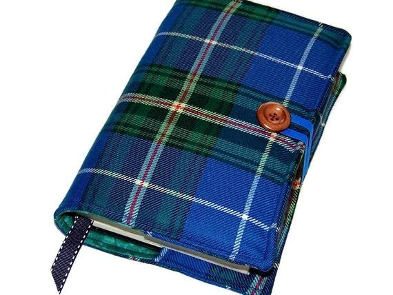 Fabric Book Covers Canada ~ Large bible cover in nova scotia wool tartan canadian