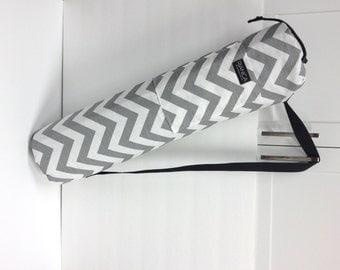 Grey Chevron Yoga/Pilates Mat Bag Carrier