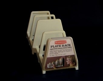 Rubbermaid Plate Rack Cupboard Organizer 6203 1970s Kitchen NOS Deadstock