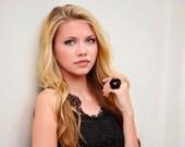 Flower ring - Black flower ring - Rose ring - Statement Ring - Brass Ring - Adjustable ring - Flower jewelry - Gift for her - Handmade ring