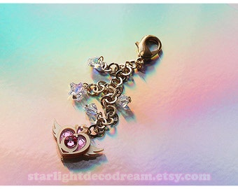 Starlight Deco Dream for simply gilded Mini Crisis Moon Sailor Moon Planner Charm with Swarovski Accents and Gold Plated Chain