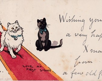 Vintage English Postcard, was signed / mailed in 1920s