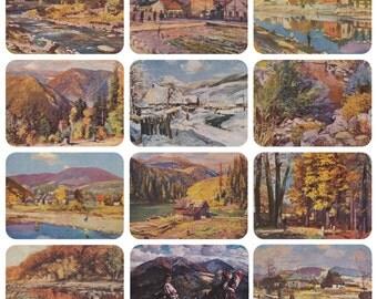 I. Bokshai. Collection / Set of 12 Vintage Postcards -- 1960s-1970s