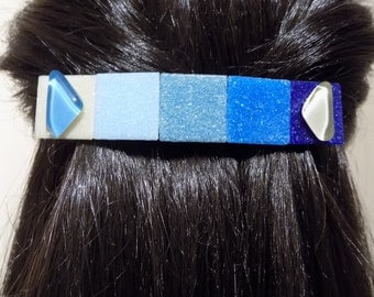 Large Glass Barrette For Thick hair