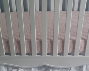 Special Order for Cassie Blush Pink and Gold Arrow Crib Sheet