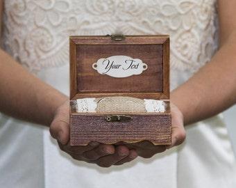 Wedding Ring Box Rustic Ring Bearer Box Personalized Wedding Box Ring Keepsake Box Custom Wedding Box Engagement Ring Box Jewelry Ring Box