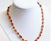 Baltic Amber Adult Necklace - Honey with Cherry Lemon Accent - Made in Canada