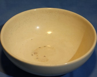 CLOSEOUT:  Early Off-white Pottery Kitchen Bowl