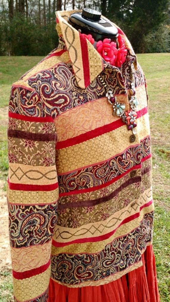 Tapestry blazer jacket alfred dunner designer brand chic for Alfred dunner wedding dresses