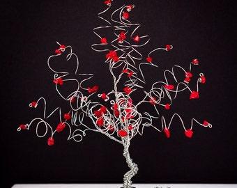 Elf Tree Wire Tree Sculpture Bright Colorful Tree Art