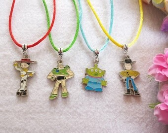 10 Toy Story Necklaces Party favors