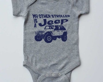 Baby Onepiece-My Other Stroller is a Jeep-4 Door-4x4 Jeep, off road, Baby Gender Neutral,Baby gift,off road gifts,new parent gift,creeper