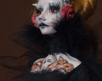 OOAK Grim Reaper Art Doll Sculpt