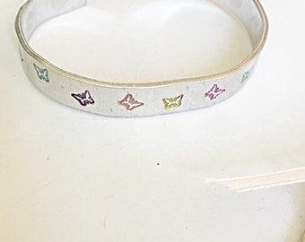 SALE, Hand Stamped Butterfly Cuff, Butterfly Cuff Bracelet, Summer Bracelet, Butterfly Jewelry, Gift For Women, Butterfly Gifts