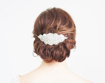 Crystal Pearl Headpiece Comb Bridal Wedding Accesoories
