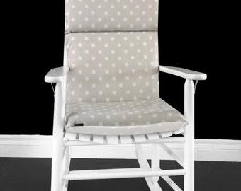 Ikat Polka Dot Rocking Chair Cushion, Custom Size Rocking Chair Cover