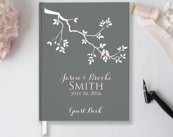 Wedding Guest Book Wedding Guestbook Custom Guest Book Personalized Customized Guest Book Wedding Gift Rustic Wedding Guest Book GB101