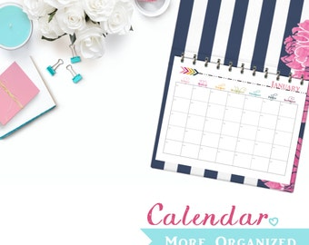 12 Month Landscape Calendar - Fill in the Dates - Digital File