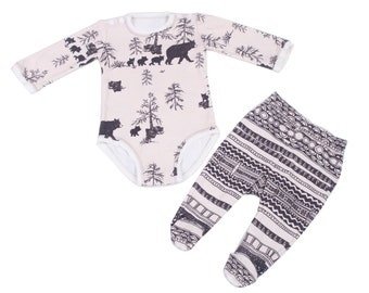 Baby Shower Gift , Organic Newborn Clothes , Organic Baby Clothes , Organic Baby Gift , Organic Baby Pajamas , Gift for New Baby