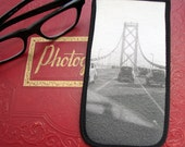 Eyeglass Case with Vintage Photo: Driving on the Bay Bridge, San Francisco, c. 1940