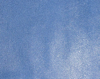 """Leather 8""""x10"""" Blue Reptile pattern Cowhide 3 oz / 1.2 mm PeggySueAlso™ Limited"""