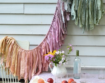 Wanderlust Fabric Garland. Wedding Banner. Baby Girl Nursery. Girl's Room Decor. Wedding Decorations. Wedding Backdrop. Shower Garland.