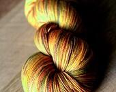 "Lace yarn - 80/20 SW Merino/Silk - Holiday - ""National Corn Chip Day"""