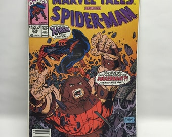 X-Men Jugernaut Spiderman COMIC BOOK SPIDERMAN June 1990 No. 238 Marvel Tales X-Men Jugernaut McFarlane Boarded