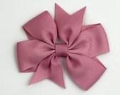 Boutique Hair Bows- Mauve - Pinwheel 3 inch Hair Bow, Boutique Bow, Babies Toddler Girls Women