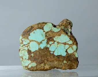 Number 8 Mine Turquoise Loose Nugget Rough Collectible Single Specimen 23.90 grams Sliced & The Rest is Natural Rare DanPickedMinerals