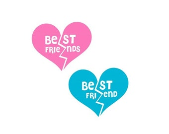 Best Friend Svg, Best Friends Svg, Valentines Day Svg, Heart Svg, Bff Svg, Best Friends Heart Svg, Cricut Cut Files, Silhouette Cut Files