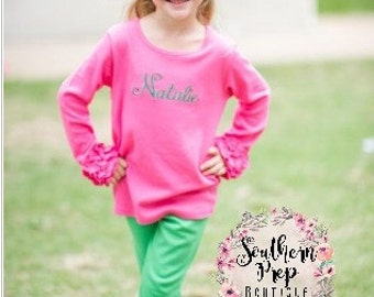 Girl's Icings - GREEN icing leggings - girl's holiday pants - Christmas outfit - fall icings - Girl's pants