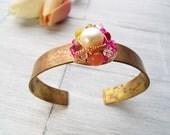Rustic Cuff Bracelet - Inspirational Cuff Bracelet - Brass Cuff Bracelet - Rustic Jewelry - Motivational Bracelet - Live Bracelet