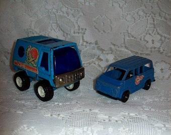 SAlE 60% Off Vintage Buddy L Die Cast Blue Metal Van & Tootsietoys Blue Metal Dodge Van Both Now 2 USD