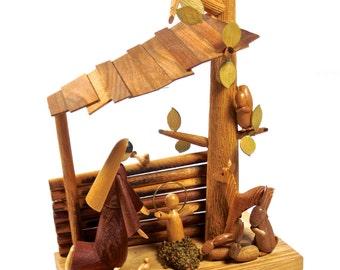 rare SITARSKI FEDOROWICZ Wooden Nativity set from Poland